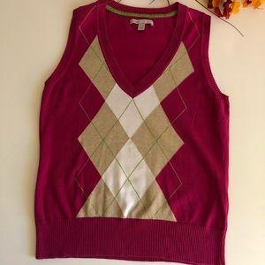 Old Navy Argyle V-neck Pullover Sweater Vest